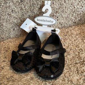 Koala baby size 2 Black Sequin dress shoes NWT